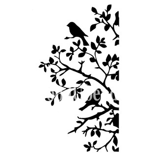Posh Chalk Stencil Birds and Branches - 21 x 30 cm